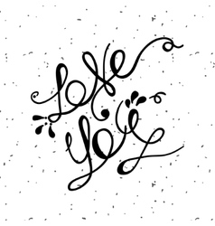 Love you lettering minimalist poster for st vector