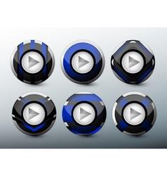 Web blue buttons vector