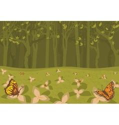 Abstract butterflies vector