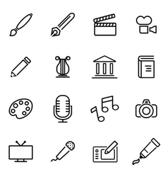 Thin line icons - art vector