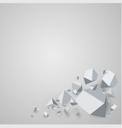 abstract polygonal geometric background vector image vector image