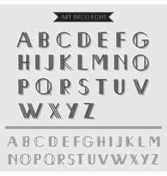 Art deco type font vintage typography vector