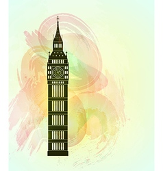 Big ben background vector