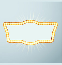 bright large glowing now showing cinema night vector image
