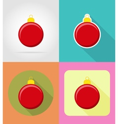 christmas and new year flat icons 09 vector image vector image