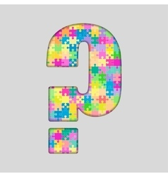 Color puzzle - question mark gigsaw piece vector