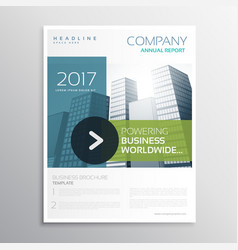 Company brochure design template in clean modern vector