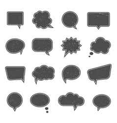 Empty speech bubbles in modern vintage style vector image