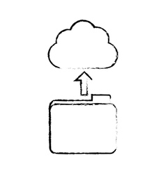 Figure database storage icon image design vector