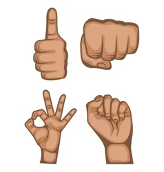 hands human set collection symbol vector image