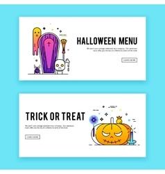 Happy halloween banners set vector image