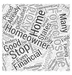 How to avoid and stop foreclosure on your home vector