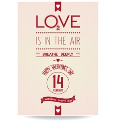 Just valentines day banner in vintage style vector