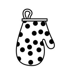 Kitchen glove utensil isolated icon vector