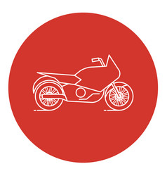 line art style motorcycle icon vector image