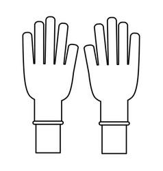 Medical gloves product vector