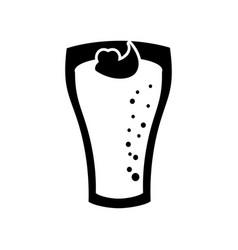 milkshake with cream in glass strawberry drink vector image