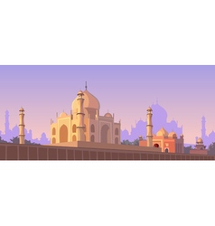 Mosque architectural structure vector image