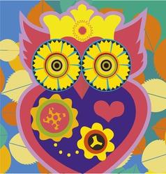 owl queen poster vector image vector image