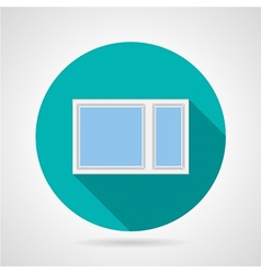 Simple window flat icon vector image vector image