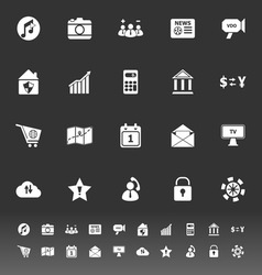 Smart phone icons on gray background vector