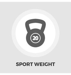 Sport weight icon flat vector image vector image