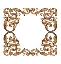 vintage baroque ornament vector image