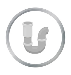 Plumbing trap icon in cartoon style isolated on vector