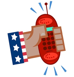 Cartoon cell phone vector