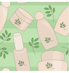 Natural cosmetics seamless background vector