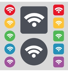 Wifi sign wi-fi symbol wireless network icon zone vector