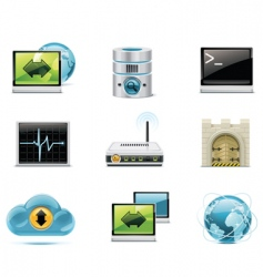 Internet and network icons vector