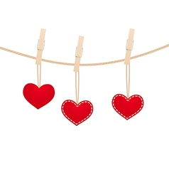 Hearts clothespins 13 vector