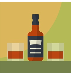 Bottle whiskey icon vector