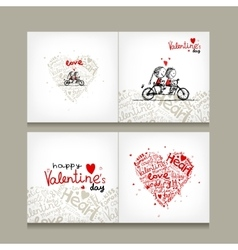Greeting card design valentine day vector