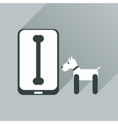 Flat web icon with long shadow mobile pet vector