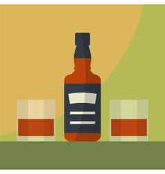 Bottle whiskey icon vector