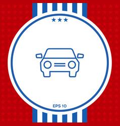 car symbol line icon vector image