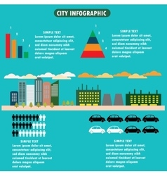City infographics - flat design layout with icons vector