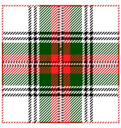 Clan Stewart Tartan Plaid Pattern vector image vector image