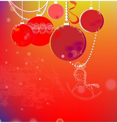 colorful winter background with Christmas balls vector image