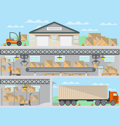 Commercial freight service business banner vector