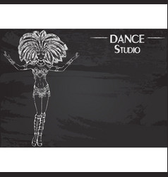 dance line chalk samba vector image