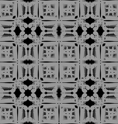 Gray pattern seamless on black background vector