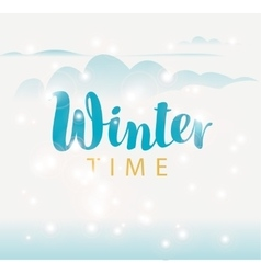 Hello winter on sun background vector