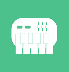 Icon children musical instrument synthesizer vector