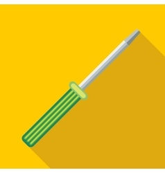 Manual screwdriver icon flat style vector