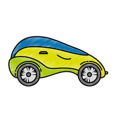 Modern car futuristic icon vector