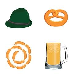 Oktoberfest icons vector image vector image
