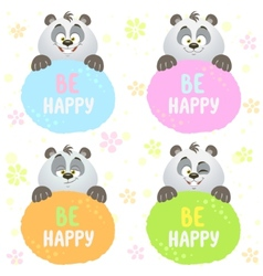 panda set vector image vector image